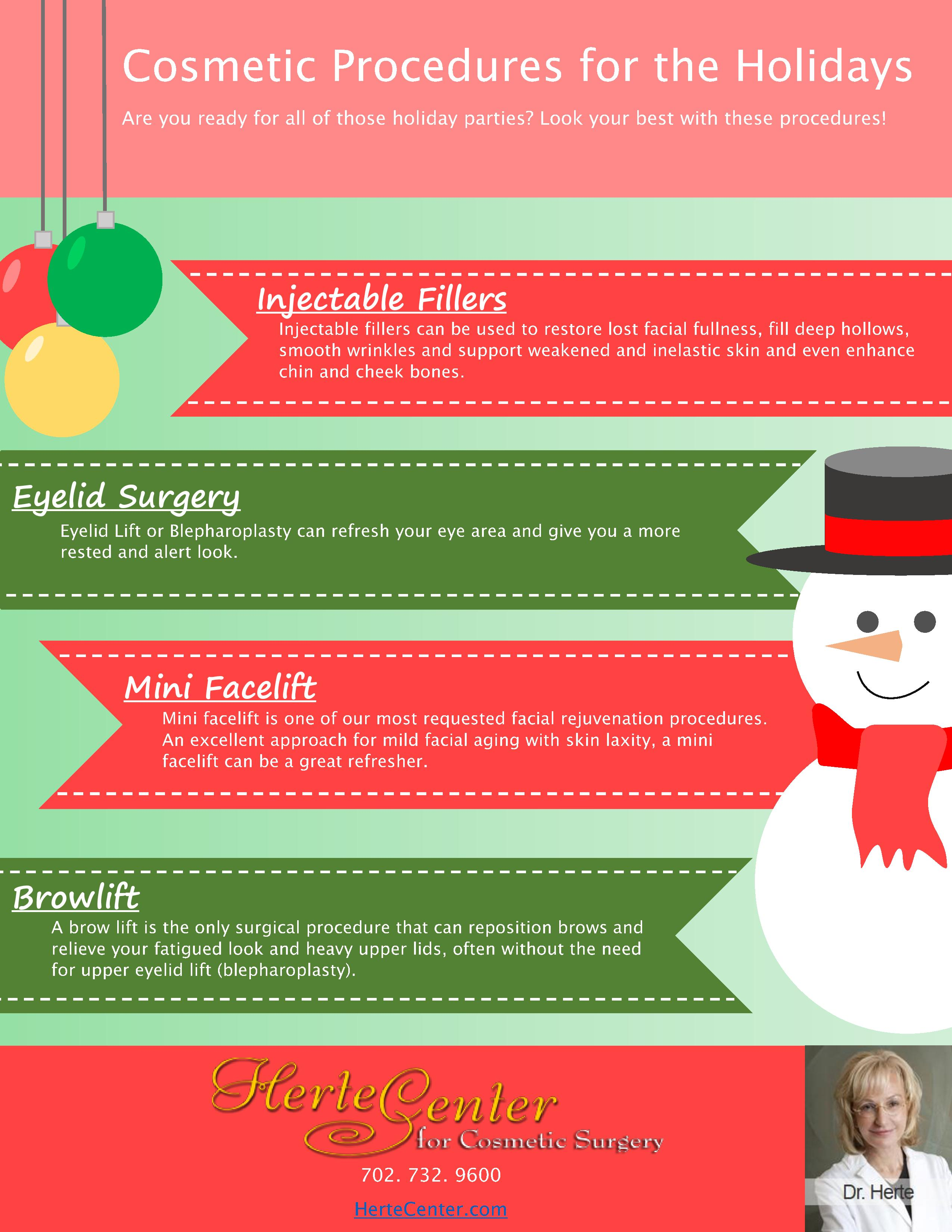 cosmetic procedures for the holidays
