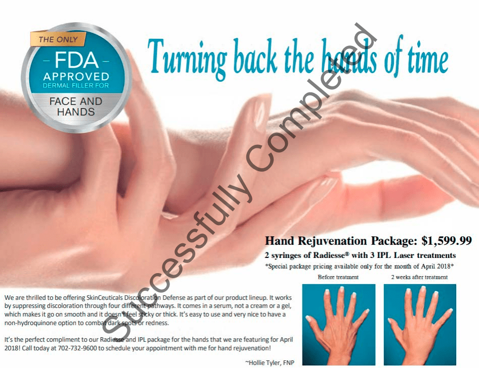 Hand Rejuvenation Special